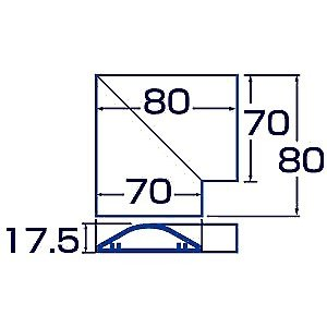 ケーブルモール 配線カバー 接続ユニット CA-R70用 L型 アイボリー(CA-R70L)(即納)|sanwadirect|02