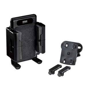 iPhoneホルダー 回転 車載ホルダー スマホスタンド 車載用品(CAR-HLD2BK)|sanwadirect