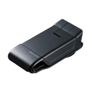 車載ホルダー 強力ゲル吸盤 クリップ型 ダッシュボード取付(CAR-HLD9BK)(即納)|sanwadirect