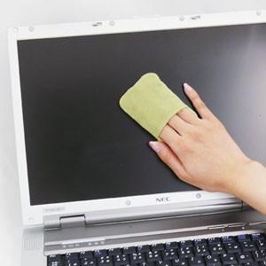 スマートフォン 液晶クリーナー 使いやすいクリーニングパッド グリーン(CD-CC23G) sanwadirect