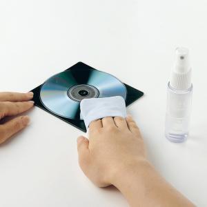 DVDクリーナー CDクリーナー 使いやすいCD DVD用クリーニングパッドとトレイ(CD-R54KT)(即納)|sanwadirect