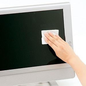 ウェットティッシュ 液晶用 ポケットタイプ(15枚入り)2個セット(CD-WT4P30)(即納) sanwadirect
