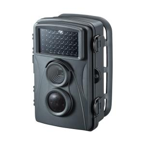 トレイルカメラ 防犯 ワイヤレス 赤外線センサー内蔵 500万画素 IP54防水防塵(CMS-SC01GY)|sanwadirect