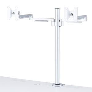 水平多関節液晶モニタアーム H700mm 左右2面(CR-LA1404N)(即納)|sanwadirect