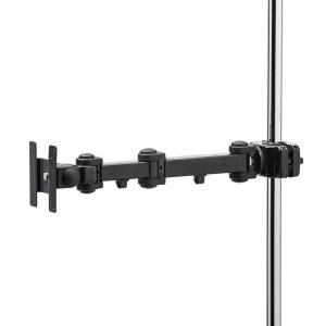 支柱取付けモニタアーム 高耐荷重 20kgまで 支柱径25から40mm 長タイプ sanwadirect