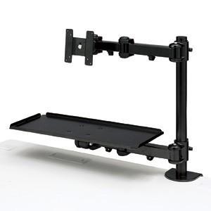 モニタアーム モニタースタンド 液晶ディスプレイアーム キーボード台付 (CR-LA601)(即納)|sanwadirect