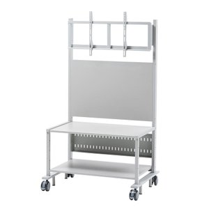 液晶ディスプレイスタンド 55から84型対応 棚付き sanwadirect