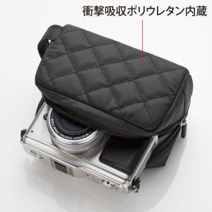 衝撃吸収ミラーレス一眼カメラケース カメラバッグ ブラック(DG-BG41BK)(即納)|sanwadirect|02