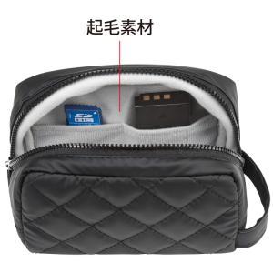 衝撃吸収ミラーレス一眼カメラケース カメラバッグ ブラック(DG-BG41BK)(即納)|sanwadirect|03
