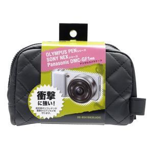 衝撃吸収ミラーレス一眼カメラケース カメラバッグ ブラック(DG-BG41BK)(即納)|sanwadirect|05