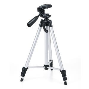 アルミ製カメラ三脚 4段伸縮 シルバー ビデオカメラ(DG-CAM18)|sanwadirect