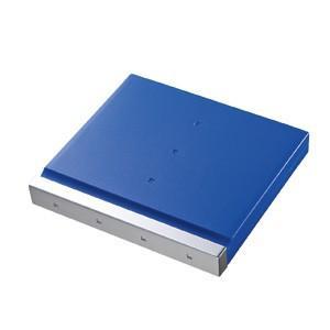 SD 12枚+マイクロSD 12枚収納 SDカードケース 大容量なのにコンパクトな メディア ケース ブルー(FC-MMC4BL)(即納)|sanwadirect