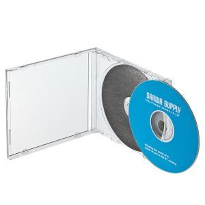 CDケース DVDケース プラケース ジュエルケース Pケース 3個セット 保護マット付 収納ケース メディアケース [FCD-1M](即納) sanwadirect