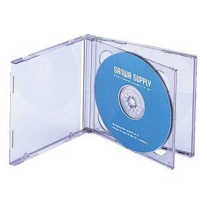 CDケース DVDケース プラケース 2枚収納×5個セット ジャケット収納可 ブラック 収納ケース メディアケース [FCD-22BK]|sanwadirect