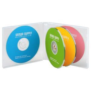 DVD CDケース 6枚収納 3枚セット クリア(FCD-61CN)(即納)|sanwadirect