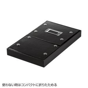 CDケース DVDケース ボックスケース 組み立て式 W165mm ブラック 収納ボックス 収納ケース メディアケース [FCD-MT3BK](即納)|sanwadirect|04