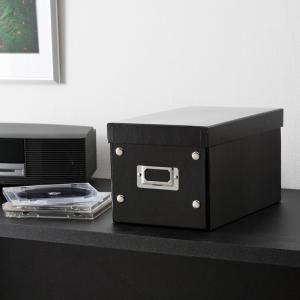 CDケース DVDケース ボックスケース 組み立て式 W165mm ブラック 収納ボックス 収納ケース メディアケース [FCD-MT3BK](即納)|sanwadirect|06