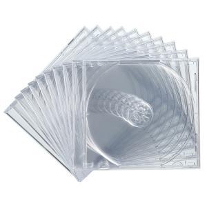 CDケース DVDケース プラケース 10個セット 厚さ10mm クリア ジュエルケース Pケース 収納ケース メディアケース [FCD-PN10C](即納)|sanwadirect