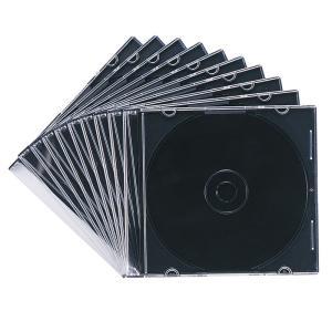 CDケース DVDケース プラケース 10個セット 厚さ5mm マットブラック 収納ケース メディアケース スリムケース [FCD-PU10MBK](即納)|sanwadirect