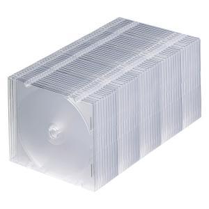 CDケース DVDケース プラケース 50個セット 厚さ5mm クリア ジュエルケース Pケース 収納ケース メディアケース スリムケース[FCD-PU50C](即納)|sanwadirect