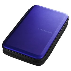 ブルーレイディスク対応セミハードケース 56枚収納 ブルー(FCD-WLBD56BL)(即納)|sanwadirect