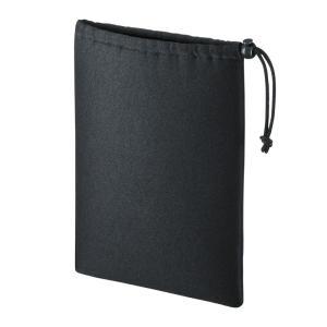 マルチクッションケース Lサイズ 巾着タイプ ブラック(IN-C3K)(即納)|sanwadirect