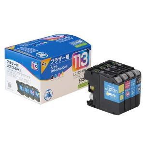 LC113-4PK リサイクルインクカートリッジ ブラザー 4色パック (JIT-B1134P)(即納) sanwadirect