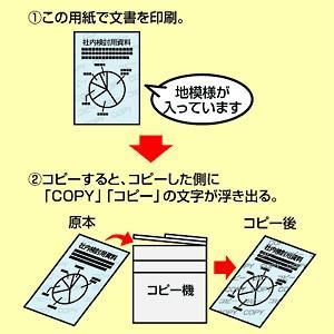 コピー偽造防止用紙 B5 100シート(JP-MTCBB5)(即納) sanwadirect 02