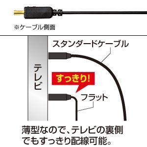 フラットHDMIケーブル 10m ブラック(KM-HD20-100FK)(即納)|sanwadirect|03