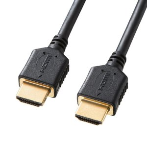 プレミアムHDMIケーブル 1m プレミアム HDMI ケーブル ブラック ハイスピード(KM-HD20-P10)(即納)|sanwadirect