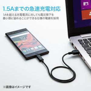 TypeC USB ケーブル USB Type-C タイプc 充電ケーブル type C オス Aコネクター オス 1m(KU-CA10K)(即納)|sanwadirect|02