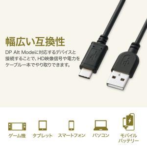 TypeC USB ケーブル USB Type-C タイプc 充電ケーブル type C オス Aコネクター オス 1m(KU-CA10K)(即納)|sanwadirect|03