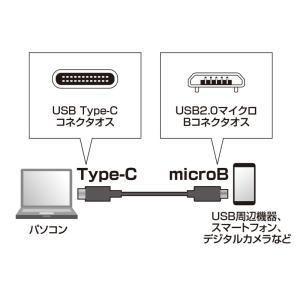 Type Cケーブル microBコネクタ-Type Cケーブル タイプC 1m USB2.0(KU-CMCBP310)(即納)|sanwadirect|02