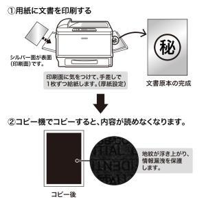 コピー防止用紙 A4サイズ レーザープリンター用 100枚入り(LBP-CBKL100)(即納)|sanwadirect|02