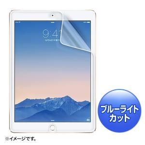 iPad Air 2 ブルーライト カット 液晶保護フィルム 指紋防止 光沢タイプ(LCD-IPAD6BC)(即納)|sanwadirect
