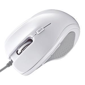 マウス ブルーLEDマウス 5ボタン ホワイト(MA-117HW)(即納)|sanwadirect