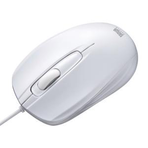 有線光学式マウス ホワイト(MA-127HW)(即納) sanwadirect