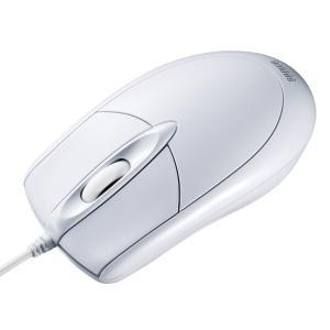 PS/2有線光学式マウス 大型 ホワイト(MA-130HPW)(即納)|sanwadirect