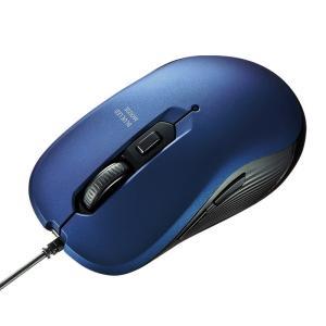 有線ブルーLEDマウス 5ボタン ブルー(MA-BL114BL)(即納)|sanwadirect