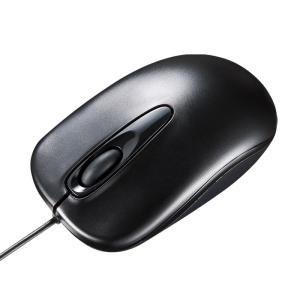 有線マウス ブルーLED 3ボタン ブラック(即納)|sanwadirect