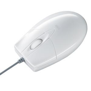 マウス ブルーLEDマウス 有線 ホワイト 簡易パッケージ 3ボタン(MA-BL3UPW) sanwadirect