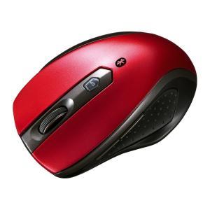Bluetooth3.0 ブルーLED静音マウス レッド(MA-BTBL28R)(即納)|sanwadirect
