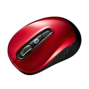 Bluetooth3.0 ブルーLEDマウス レッド(MA-BTBL29R)(即納)|sanwadirect