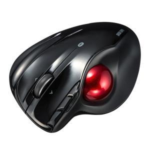 ワイヤレストラックボール Bluetooth4.0 レーザーセンサー 左右スクロール ブラック(MA-BTTB1BK)(即納)|sanwadirect