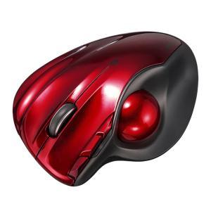 ワイヤレストラックボール Bluetooth4.0 レーザーセンサー 左右スクロール レッド(MA-BTTB1R)(即納)|sanwadirect