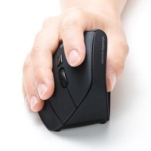 エルゴノミクスマウス Bluetooth 腱鞘炎防止 ブルーLED 6ボタン(MA-ERGBT11)(即納)|sanwadirect|02