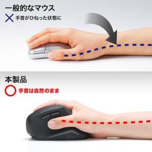 エルゴノミクスマウス Bluetooth 腱鞘炎防止 ブルーLED 6ボタン(MA-ERGBT11)(即納)|sanwadirect|03