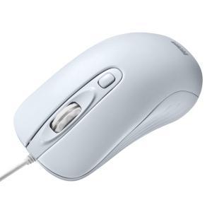 有線レーザーマウス カウント切り替え機能付き 大型 ホワイト(MA-LS27W)(即納) sanwadirect