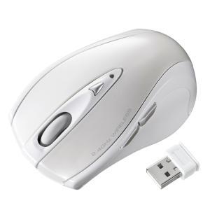 超小型レシーバー ワイヤレス レーザーマウス ホワイト 5ボタン(MA-NANOLS12W)(即納)|sanwadirect