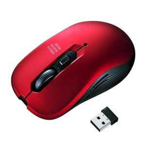 ワイヤレスブルーLEDマウス 5ボタン レッド(MA-WBL113R)(即納)|sanwadirect